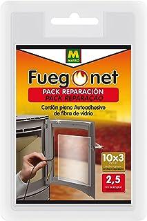 FUEGO NET Fuegonet 231331 Cordón Plano Auto Adhesivo, Negro