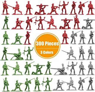 Beebeerun Plastic Army Men Toys for Boys 300 PCS Little Toys Soldiers Army Guys