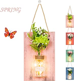hanging mason jar succulents