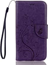 Galaxy S7 Active Case,S7 Active Wallet Case Butterfly Flip Folio PU Leather Kickstand Wallet Purse Case Credit Card Slots Cash Holder for Samsung Galaxy S7 Active (Purple)