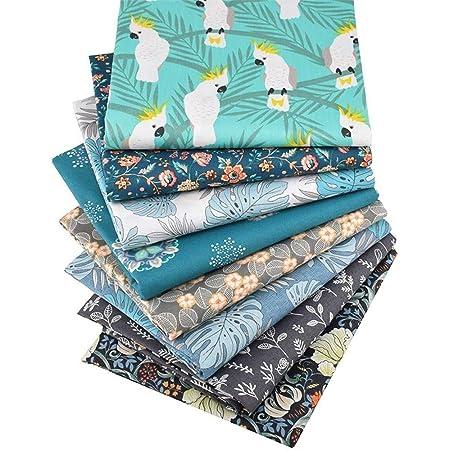 Free Shipping over 35 Cotton Fat Quarter Quilting Cotton Fabric Cotton Quilting Fabric Blue Floral Fat Quarter