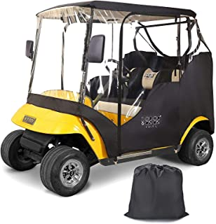 10L0L 2 Passenger Golf Cart Enclosures for EZGO TXT with Security Side Mirror Openings, Waterproof Portable Transparent Go...