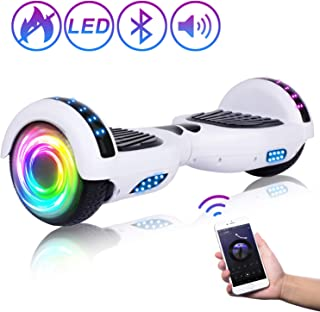 """SISIGAD Hoverboard Self Balancing Scooter 6.5"""" Two-Wheel Self Balancing Hoverboard with Bluetooth Speaker and LED Lights Electric Scooter for Adult Kids Gift UL 2272 Certified - Pure Color Series"""