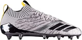 Adizero 5-Star 7.0 Primeknit Football Cleats (13, Grey/Core Black/Vivid Yellow)