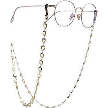 TEAMER Fashion Five Pointed Star Eyeglass Chain Sunglass Strap Gold Eyeglass Strap Holder Reading Glasses Strap for Women