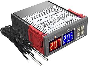 Nishore Dual Display Digital Termostato Controlador de Temperatura Regulador de Temperatura com Sonda Do Sensor de Sonda D...