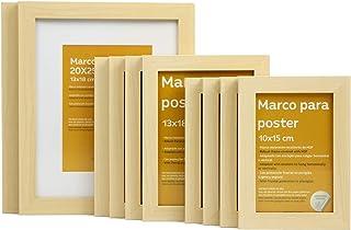 Nacnic Marco de Madera de Nogal Lightwood tamaño(10 Set - |20x25cm|x2 - |13x18cm|x4 - |10x15cm|x4). Marco Lightwood para Fotos, Carteles, Diplomas.