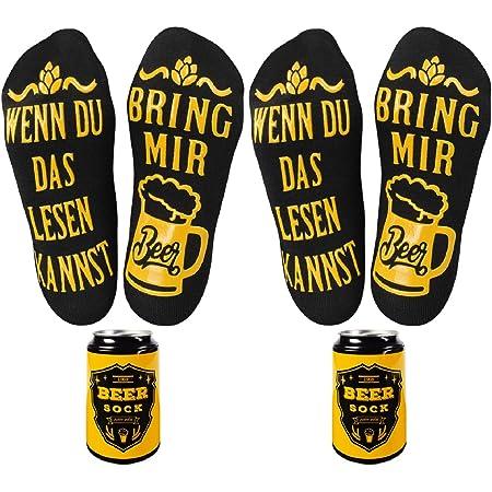 Bier Socken Herren lustige Biersocken als Bier Geschenk und Geburtstagsgeschenk