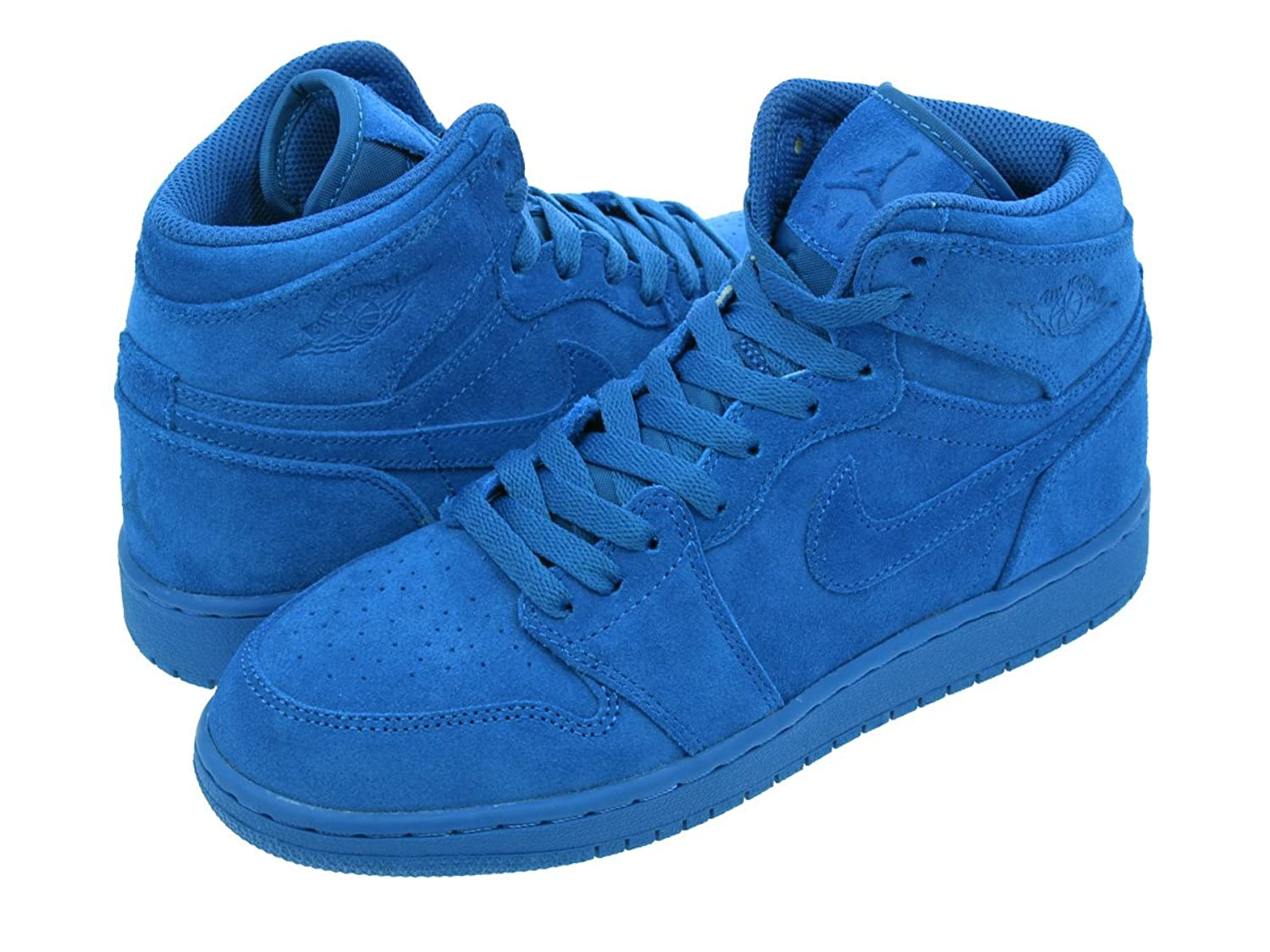 [ナイキ] AIR JORDAN 1 RETRO HIGH BG TEAM ROYAL/TEAM ROYAL 705300-404 【BLUE SUEDE】【レディースモデル】 [並行輸入品]