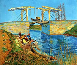 AED200-8K Hand Painted by College Teachers - 32 Famous van Gogh Paintings - Langlois Bridge at Arles with Women Washing Vincent van Gogh LEWE1 - Art Oil Painting on Canvas -Size03