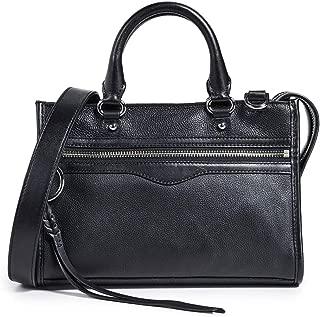 Rebecca Minkoff Women's Micro Bedford Zip Satchel Leather Cross Body Bag