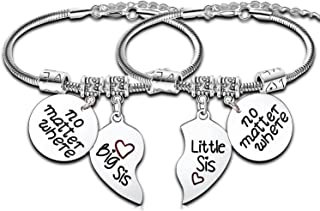 Big Sister Gifts for Little Girls Charm Bracelet Big Sister Little Sister Matching Jewlry Big Sister Gifts Long Distance G...