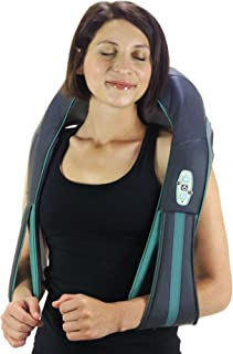 InstaShiatsu+ Neck, Shoulder & Full Body Massager With Heat, Model # IS-2000, Cordless & Rechargeable, Use At Home & Office, By TruMedic