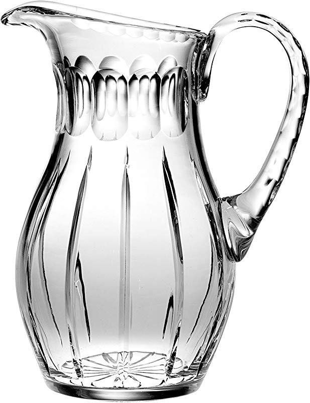 Barski Hand Cut Mouth Blown Crystal Pitcher 52oz 10 25 Height Made In Europe