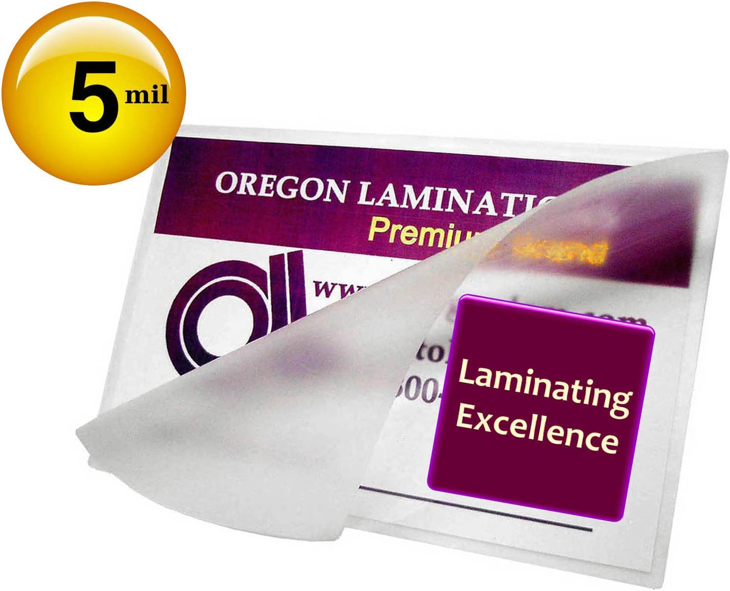 Qty 500 Military-R Laminating Pouches 2-3/8 x 3-1/2 Laminator Sleeves 5 Mil