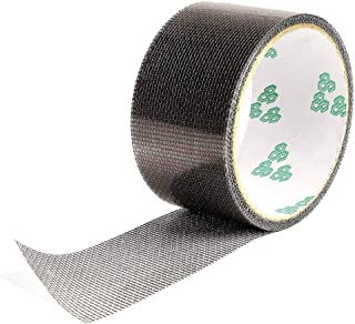 網戸補修テープ ガラス繊維メッシュタイプテープ 張り替え 網戸補修パッチ 虫よけ 網戸の破れを張るだけで簡単補修 強粘着性 ブラック