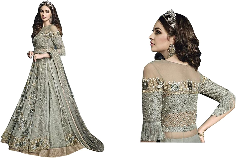 Diwali Festival Bollywood Silk Collection Anarkali Salwar Suit Ceremony Punjabi 517