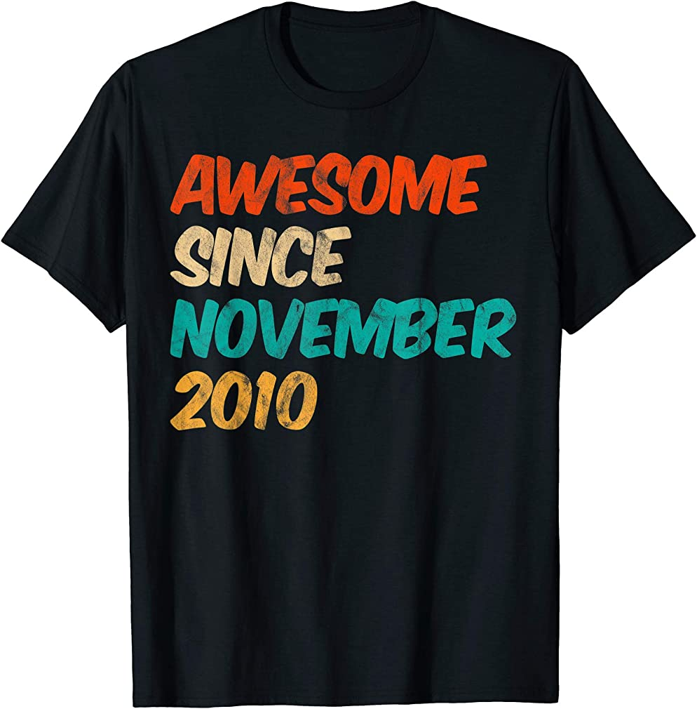 Awesome Since November 2010 9th Birthday Gifts 9 Year Old T-shirt