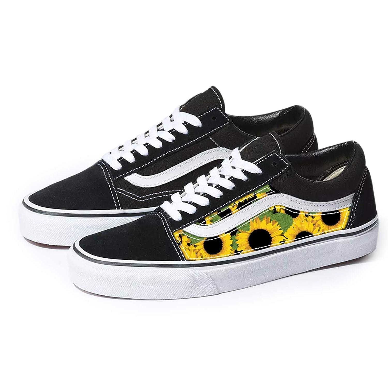 Black Ranking TOP6 Old Skool x Sunflower Pattern Pat Custom Handmade Selling Shoes By