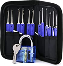 Lock Pick Set, Lock Picking Tools with 1 Clear Practice and Training Lock (B)