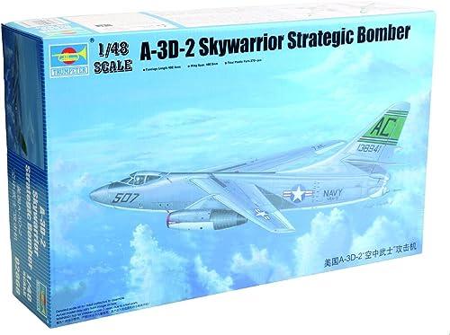 últimos estilos Trumpeter 02868. Maqueta Avion A-3D-2 Skywarrior Strategic Strategic Strategic Bomber. Escala 1 48  bienvenido a comprar