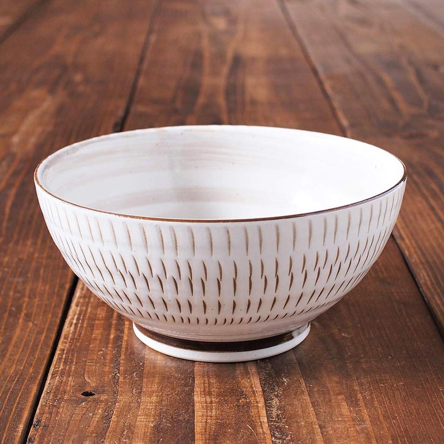 穀物読者マトンみのる陶器 美濃焼 美濃民芸 さぬき丼 φ18.5×9cm