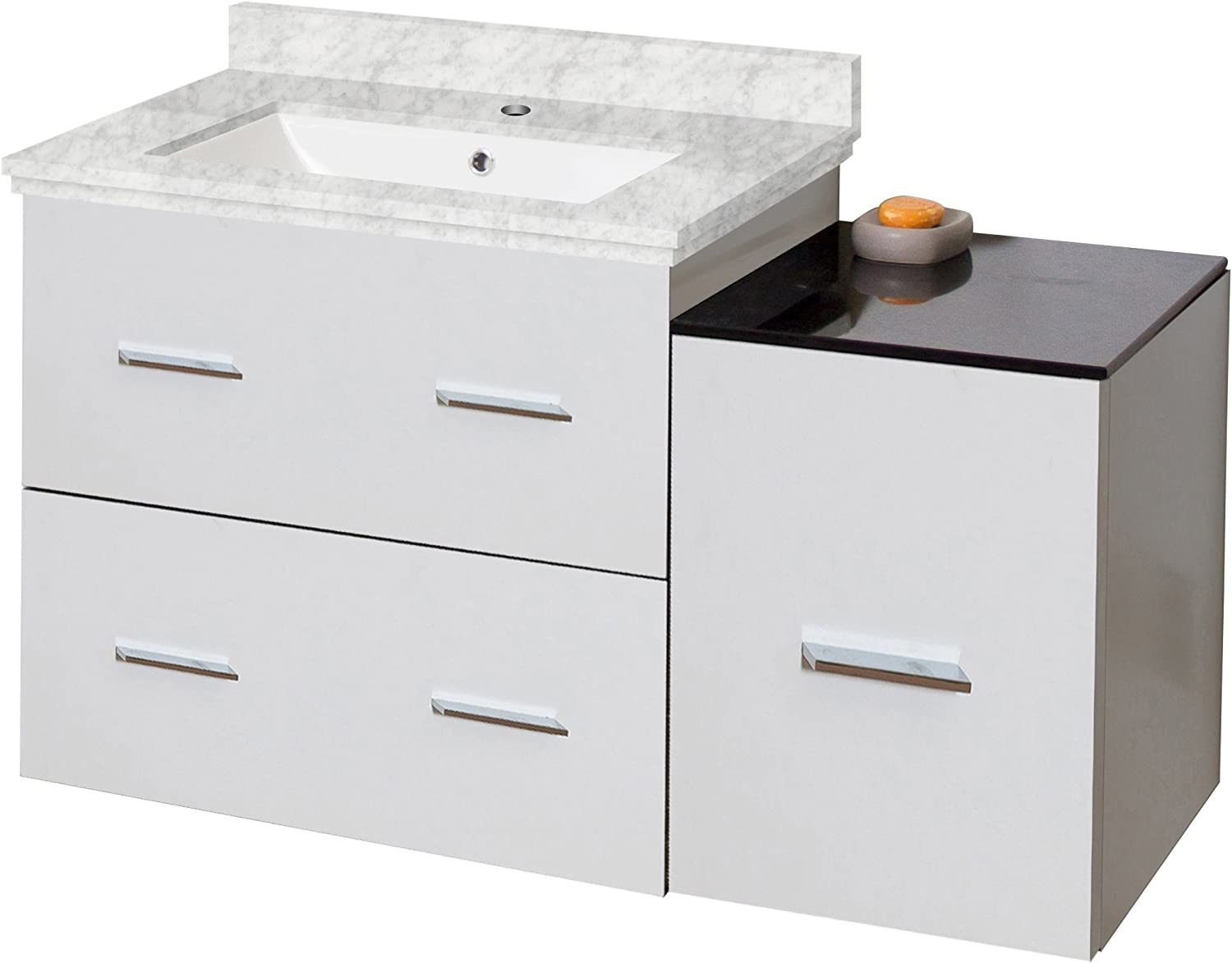 American Imaginations AI-999-18395 Modern Wall Plywood-Melamine Vanity Base Only in White