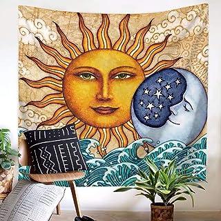 Yaosh Indyjska mandala słońce gobelin bohema wiszące gobeliny maty do jogi psychodeliczny niebiański indyjski słońce hipis...