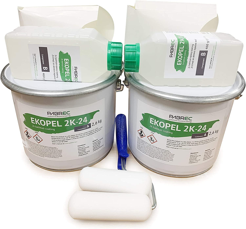 Ekopel Regular 5 ☆ popular store 2K Bathtub Refinishing Kit 2 Shower Pack Sur and Tile Tub