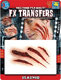 Hallo Makeup Special Effects Makeup for Halloween Costumes and Parties; Slash Wound Prosthetic- Tinsley Transfers