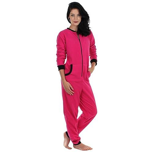 e74f626d21 Sleepyheads Women s Sleepwear Fleece Non Footed Color Onesie Pajamas  Jumpsuit