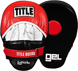 Title Bpoxing Gel E-Series Punch Mitts, Black/White/Red