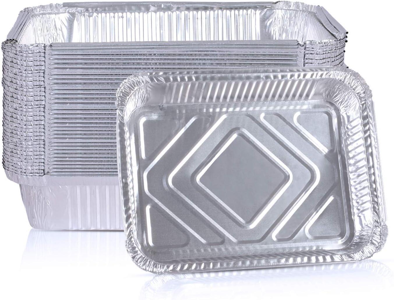 "Rongrong 30 Packs Aluminum Foil Baki 9x6.7"" Bombing new work Disposable Pans Genuine"