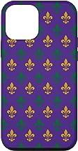 iPhone 12 mini Purple Mardi Gras New Orleans Fleur-De-Lis Pattern Case