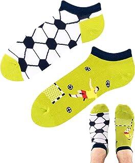 TODO Colours - Calcetines para zapatillas de fútbol con diseño de balón de fútbol, multicolor