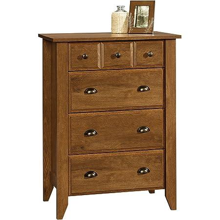 Amazon Com Sauder Orchard Hills 4 Drawer Chest Carolina Oak Finish Furniture Decor