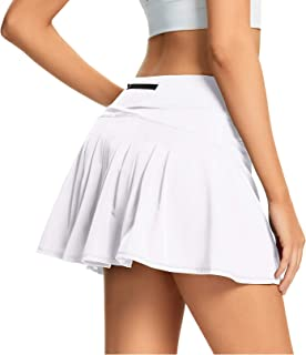 Tennis Skirts for Women Pleated Golf Skort with Pockets Workout Athletic Skirt with Shorts