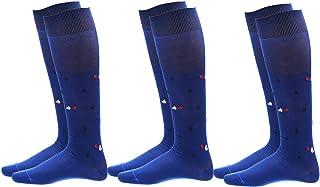 Calcetines de hombre largos, fabricados en algodón 100% hilo de Escocia, altura media pierna, diseño a la moda, fabricados en Italia
