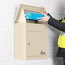 Smart Parcel Box, Middelgrote pakketbrievenbus met pakketvak en brievenbus, veilige pakketdoos voor thuis en bedrijf met t...