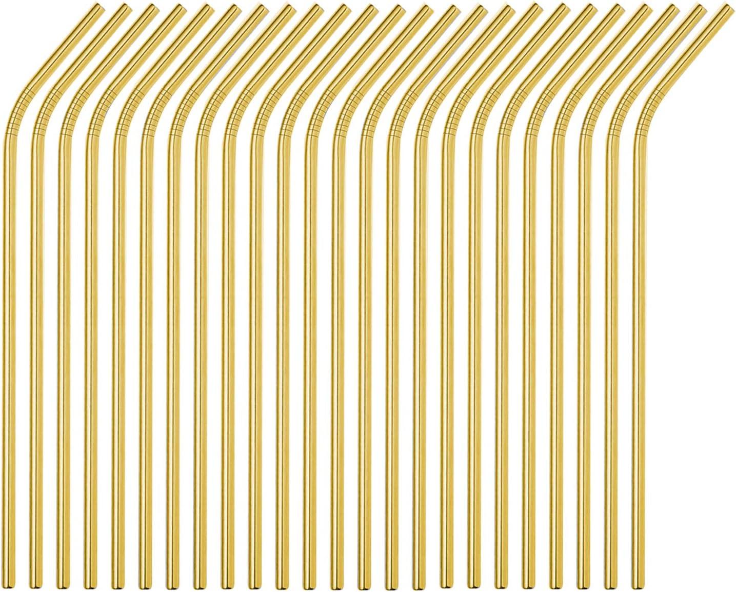 Brightbuy Metal Straws 100 Piece 正規品 Bulk Steel ランキングTOP5 Be Stainless 10.5''