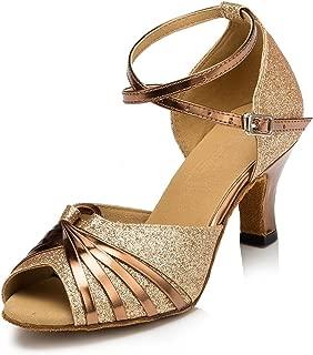 Ballroom Dance Shoes Women Low Heel Wedding Shoe Salsa Latin Dance Heels