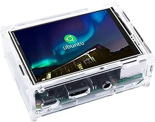 Kuman 3.5インチ 320*480 モニター タッチパネル ラズパイ 液晶 Raspberry Pi用ディスプレイ 保護ケース デュアル 同時表示 ゲームとビデオ Raspberry Pi pi B+ 2 3 3B+に対応 ラズベリーパイ...