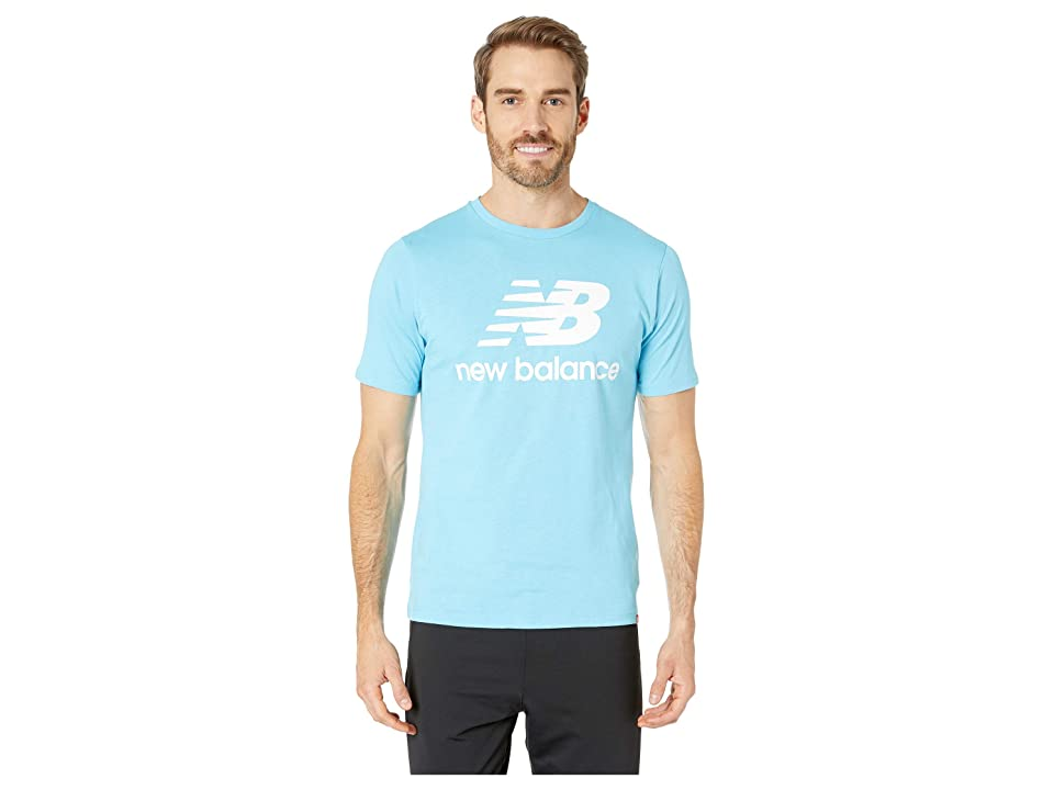 New Balance Essentials Stacked Logo Tee (Enamel Blue) Men