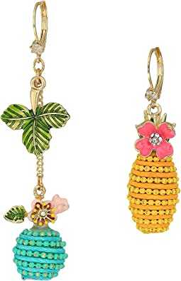 Colorful Non-Matching Fruit Drop Earrings