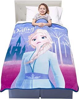 "Franco Kids Bedding Super Soft Plush Throw, 46"" x 60"", Disney Frozen 2"