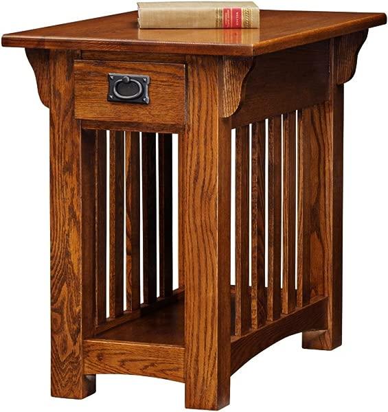 Leick Furniture Mission Chairside Table Medium Oak