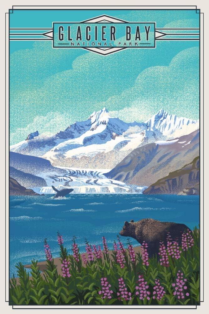 Glacier Bay SEAL limited product National Park Seri cheap Lithograph Alaska