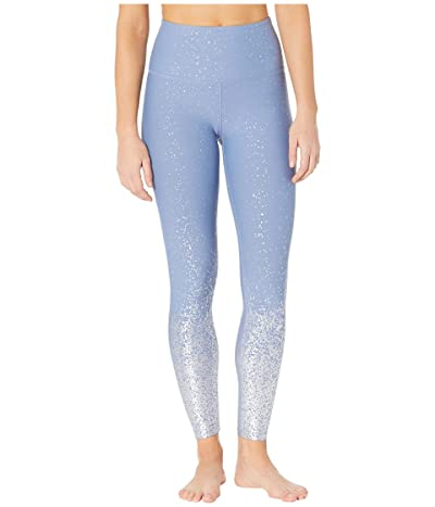 Beyond Yoga Alloy Ombre High-Waisted Midi Leggings (Serene Blue/Shiny Silver Speckle) Women