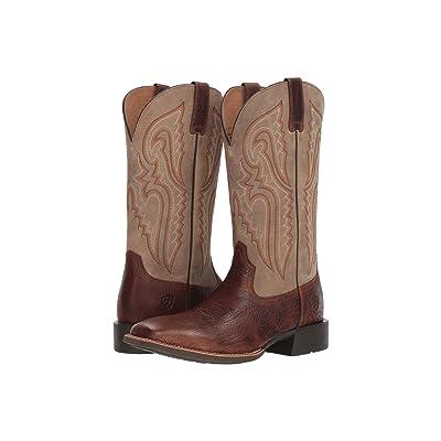 Ariat Heritage Latigo (Cognac Bullhide/Brown Bomber) Cowboy Boots