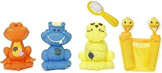 Lexibook Yayé Bath Toy Set, 3 Animals, Storage Bag, Accessories Included, Yellow/Multicolours, IT017